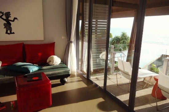 The Houben Hotel: Balcony overlooking the ocean