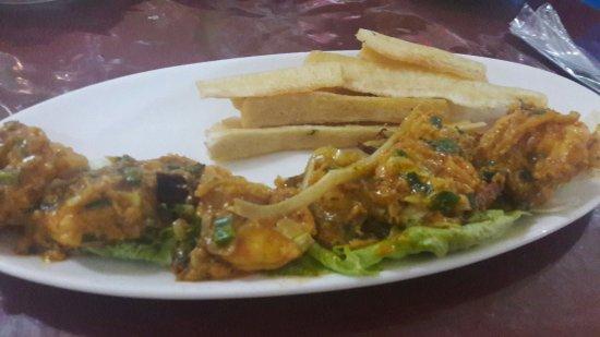 Aguadulce, ปานามา: Disfrutando las delicias del mar.