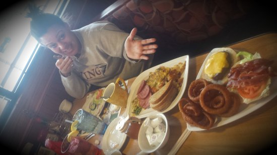 Budd Lake, NJ: Met my daughter for my birthday breakfast. What wrestlers eat after weigh-ins! LOL! DAYUM!!!