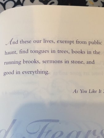 Montara, Kalifornia: As I browsed the extensive book selection in the coffee house I found a quote I liked.