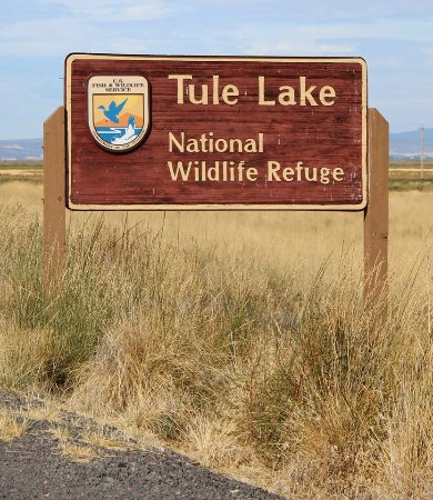 Tulelake, CA: Welcome sign at entrance to Tule Lake