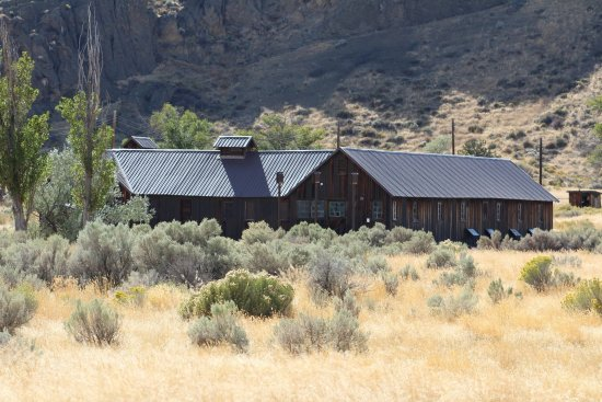 Tulelake, CA: View of building at Camp Tule Lake