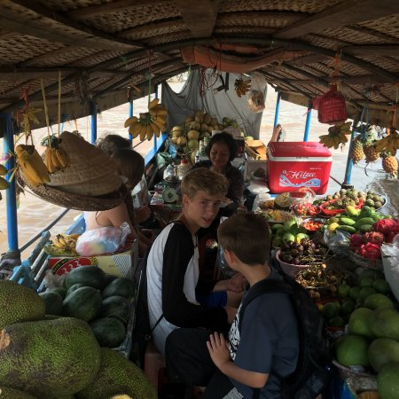 Mekong Eyes Cruise - Mekong One Day Tour : Guests stayed in Dragon Eyes I Cruise Biking tour and Floating market.
