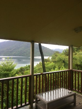 Endeavour Inlet, Nova Zelândia: View from the room