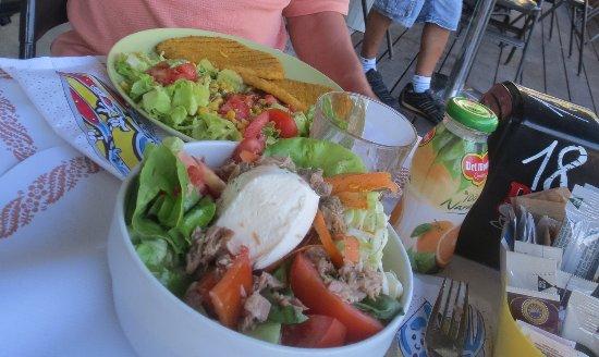 Otto e Mezzo : サラダとカツレツ