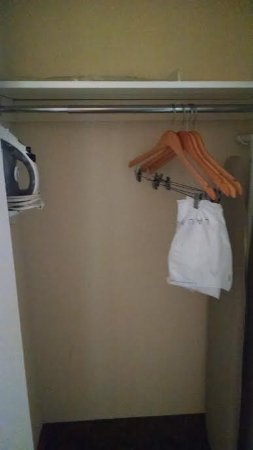 Staunton, VA: Closet with handy iron and ironing board.