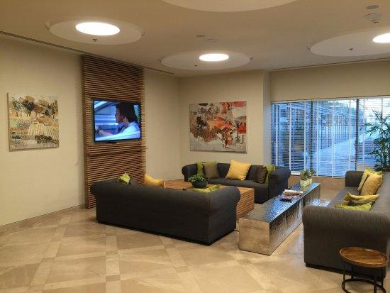 Sadot Hotel:  Very comfortable common area