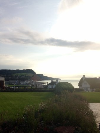 Sidmouth Harbour Hotel - The Westcliff: View from terrace bar - sunrise