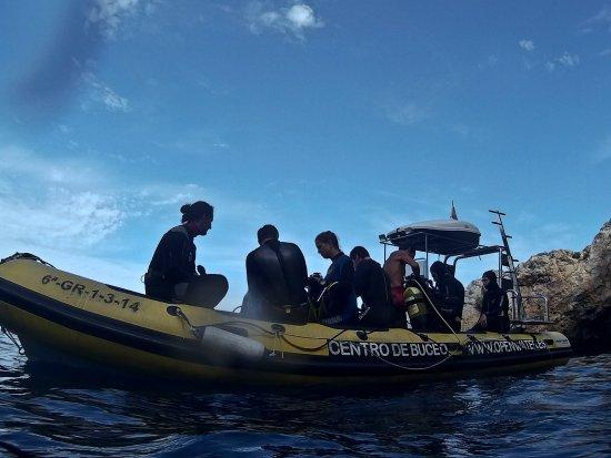 Openwater La Herradura: los barcos son amplios y cómodos, y siempre llevan patrón y guía.