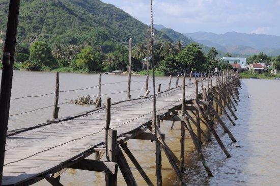 Ninh Phuoc, Vietnam: wooden bridge