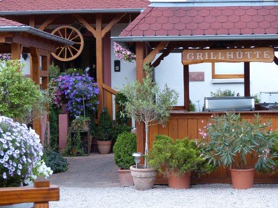 Achern, Duitsland: Grillades en plein air en été