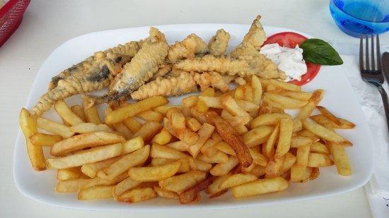 Cervar Porat, Croazia: Sarde fritte