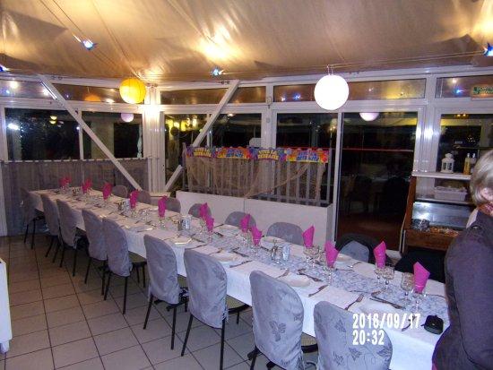 Jaux, Frankrig: décoration de table