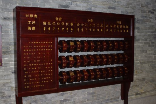 Shawan Aancient Town of Panyu: In the Music Hall, learn Chinese music notation.