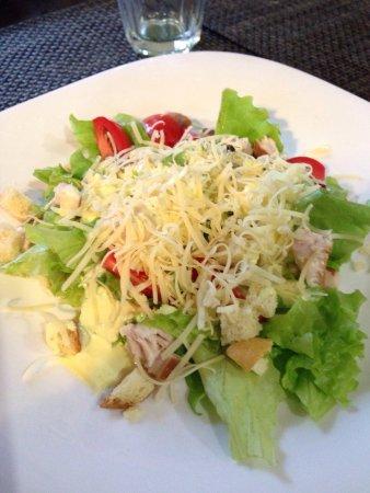 Teykovo, روسيا: Цезарь очень правильный салат!