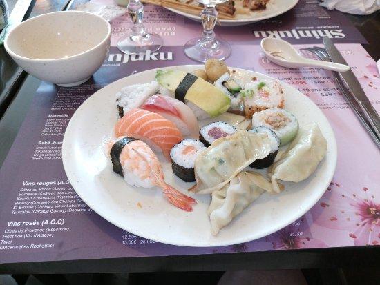 มอเรปาส, ฝรั่งเศส: Assez variété de sushi maki