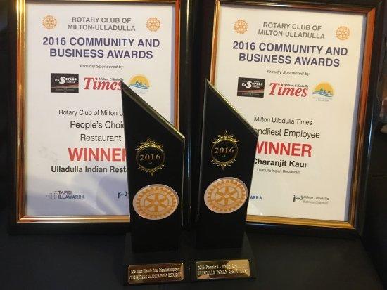 Ulladulla, Australië: In south cost BEST Restaurant AWARD WINNER  2015 & 2016 Business and Community AWARD