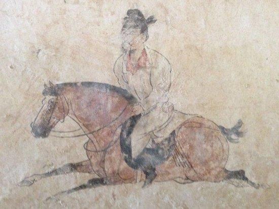 Qian County, Cina: 墓道旁壁畫