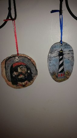 Frisco, NC: New pieces added to the collection this year..love these ornaments!
