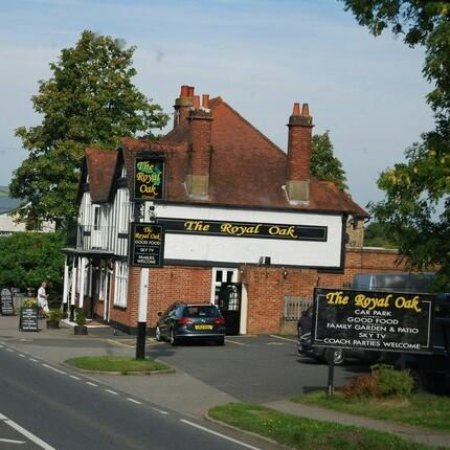 Ticehurst, UK: The Royal Oak (view from the side)