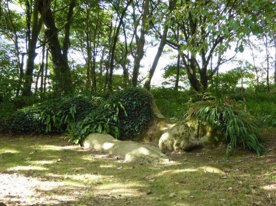 St Austell, UK: The Mud Lady am Schlafen