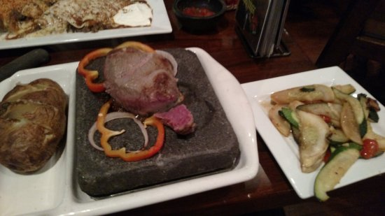 Dos Locos: baseball steak on a hot rock