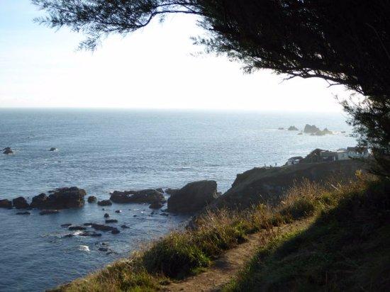 Lizard, UK: Der Weg der Küste entlang zum Lighthouse