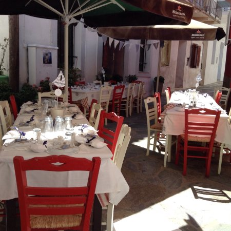 Batsi, Grecia: Fresh fish ,lobsters and small occasions for weddings and baptisms only at stamatis taverna ,eve