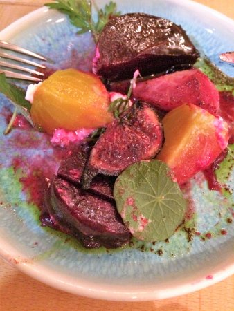 Newport-on-Tay, UK: Salt baked beetroot with figs