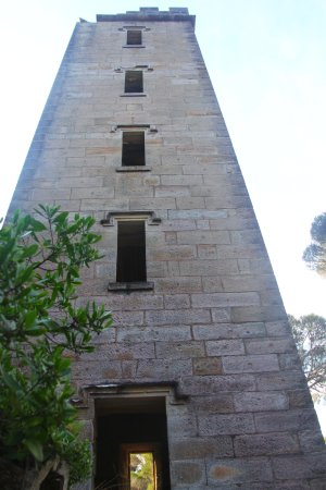 Eden, Australia: standing at the foot of boyds tower