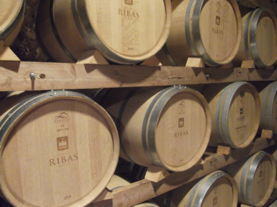 Consell, España: Several barrels in racks