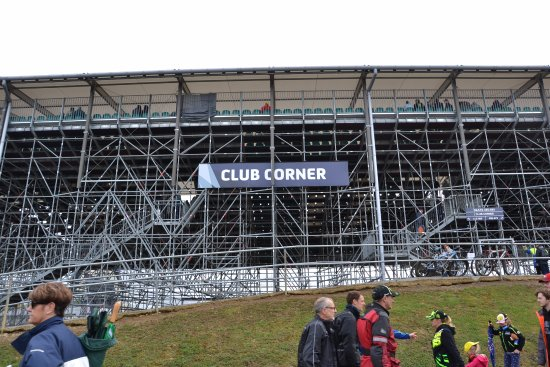 Silverstone, UK: The stand - Club Corner