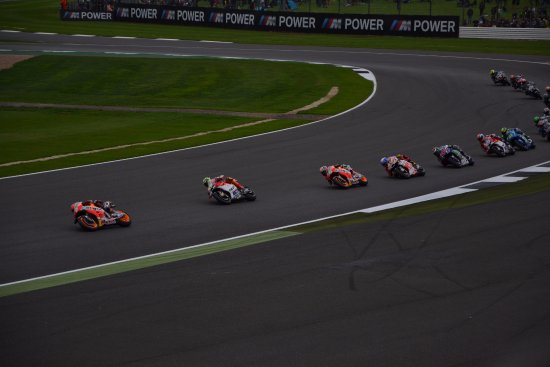 Silverstone, UK: The MotoGP race
