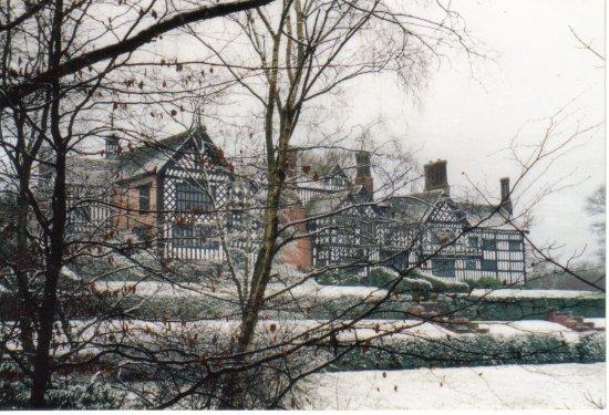 Bramhall Hall in winter