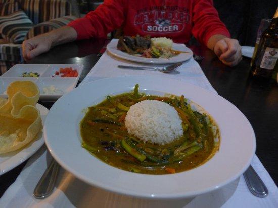 Komatipoort, Güney Afrika: Vegetable curry