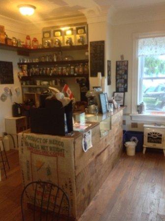 Eganville, Canada: cafe interior.