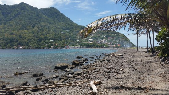 Scotts Head, Dominica: Plage de galets