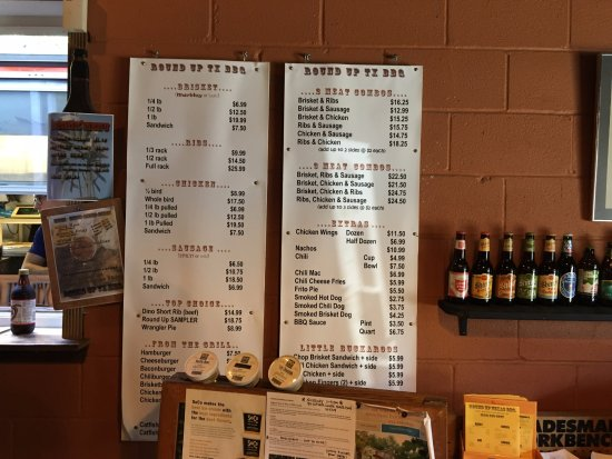 Cold Spring, estado de Nueva York: Round Up Texas BBQ - MENU