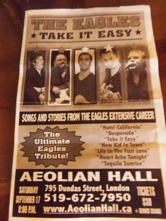 Aeolian Hall: Take it Easy, a Tribute to the Eagles