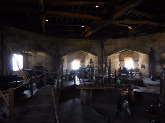 Falmouth, UK: Der Kanonenraum in Henry XIII's Fort