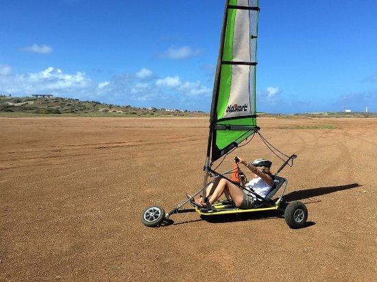 Malmok Beach, Aruba: Landsailing across Aruba