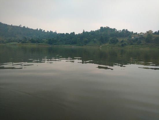 Hariana, India: Lake from boat.