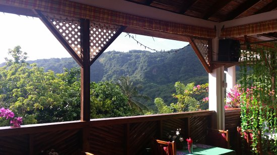 Saint George Parish, Dominica: Terrasse du resto