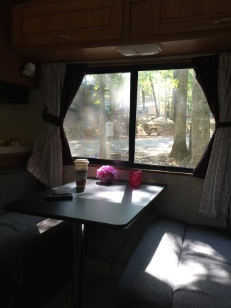Greenwood, VA: We love the tall trees which cannot damage the roof of the RV . We arrived on Saturday and love