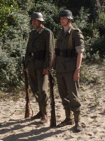 Hoek van Holland, Ολλανδία: Duitse militairen gereed voor actie.