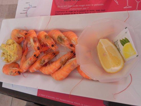 Le terminus : bouquet de crevettes