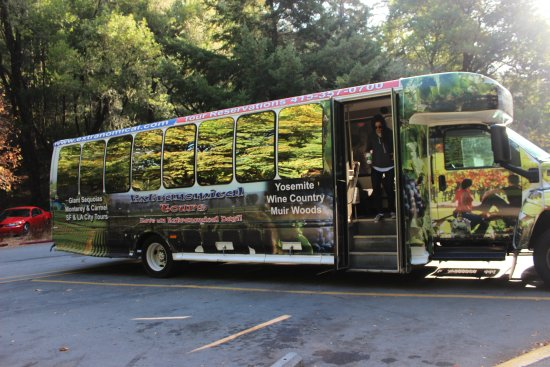 Wine Country Tour Shuttle: this was our ride for the day