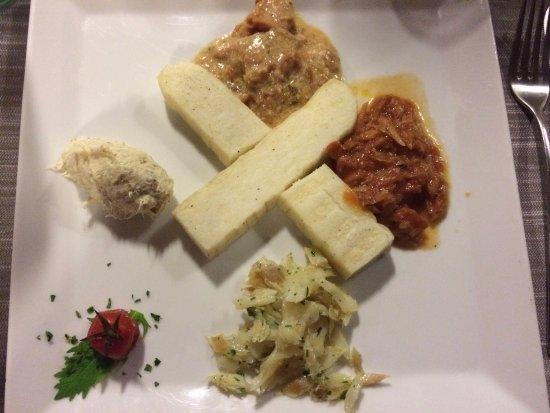 Camponogara, Italia: Baccalà con polenta bianca