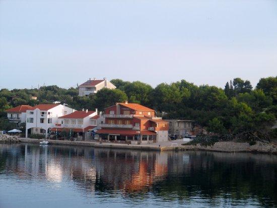 Bozava, Croatia: Aussicht von der Terrasse(Speisesaal)