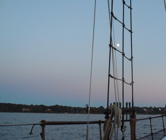 Tevake Sailing Charters: Almost full moon